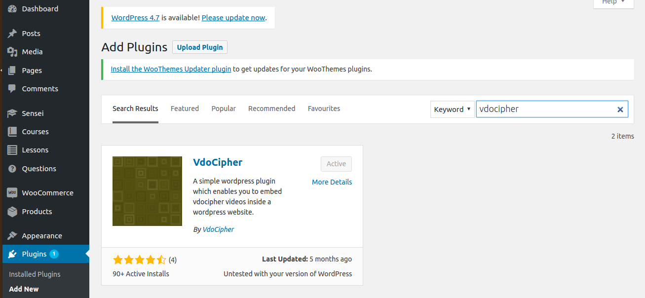 VdoCipher wordpress video plugin