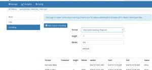 Offline Encoder Online Transcoder
