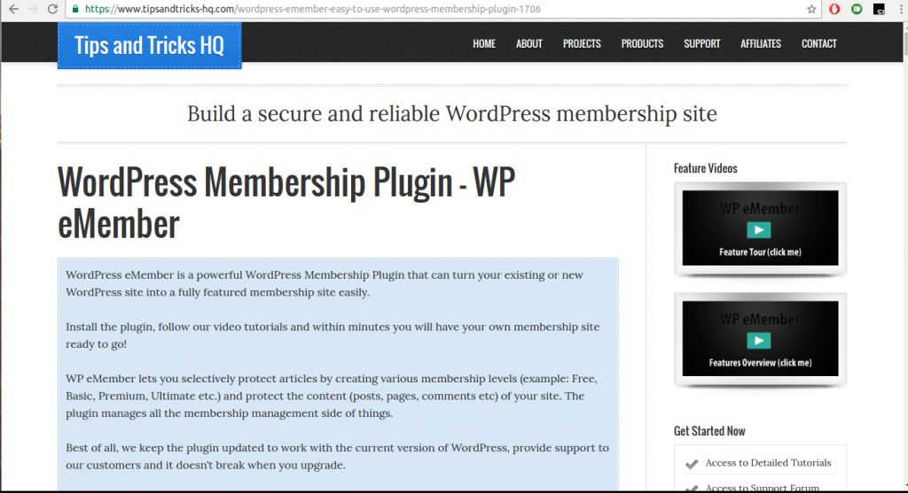 WP eMember plugin - a WordPress Membership Plugin