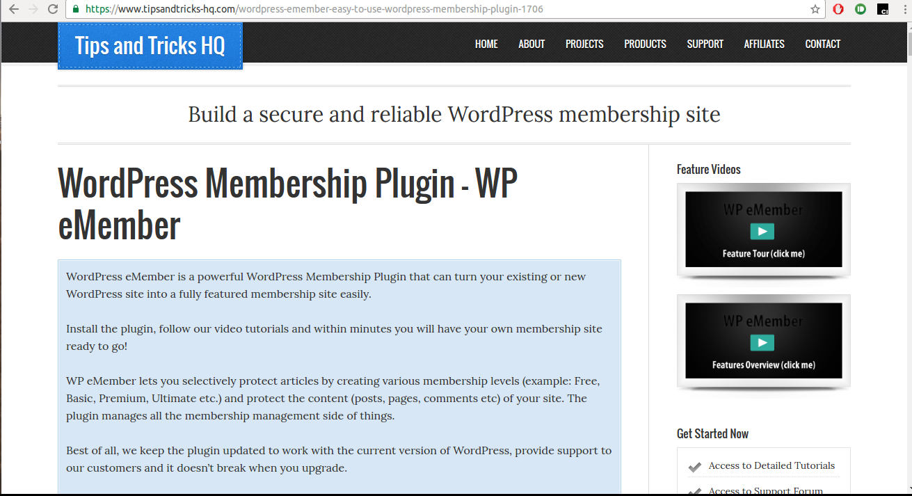 WP eMember WordPress Plugin