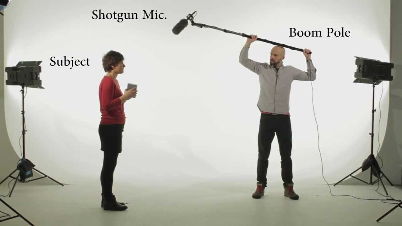 Boom mic for audio in online video course