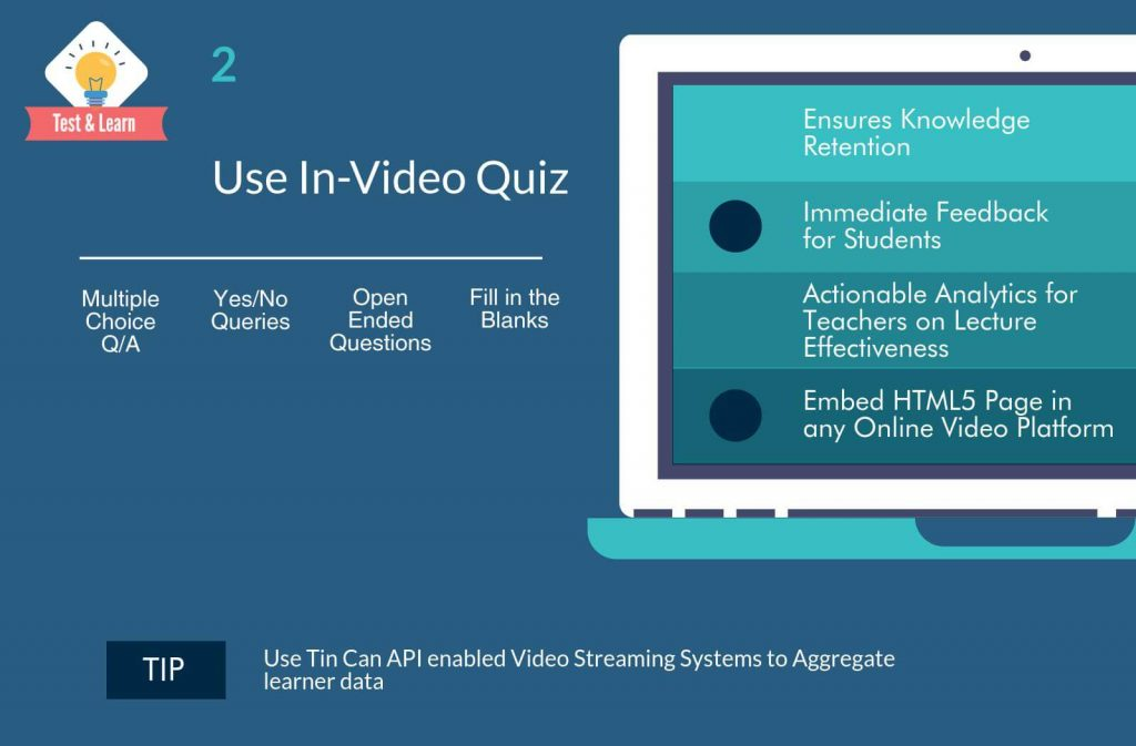 Use In-video Quiz for effective learning using Flipped Classroom Video