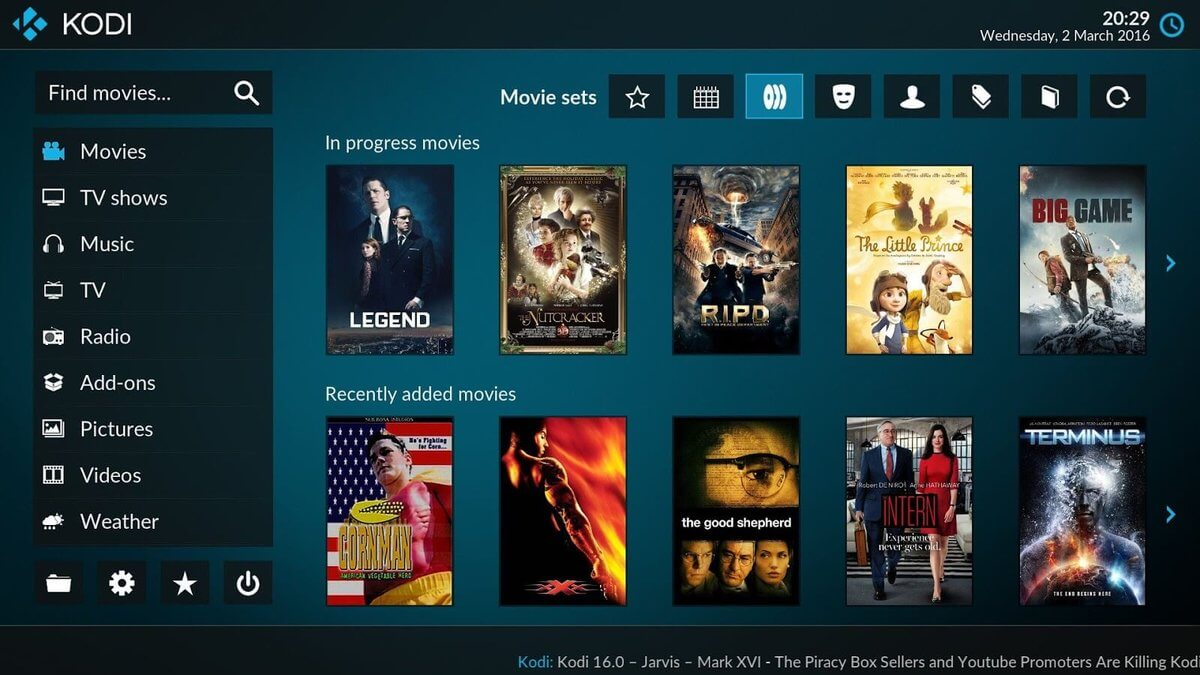 Pre-loaded Kodi Boxes are used for online video piracy through computers and set-top boxes