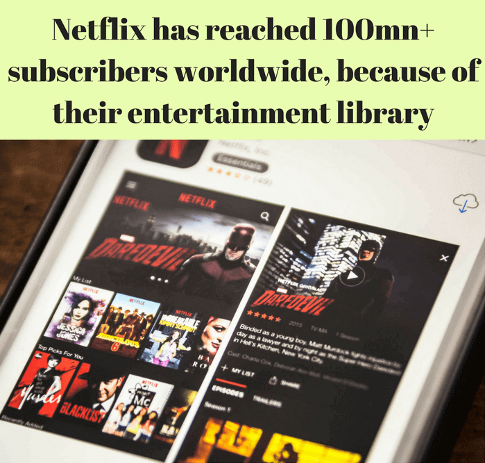 SVOD giant Netflix have reached 100mn+ subscribers internationally