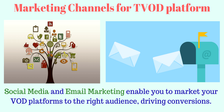 Social Media and email marketing are the best channels for promoting your TVOD platform