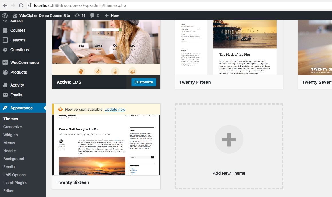 Theme editing LMS wordpress