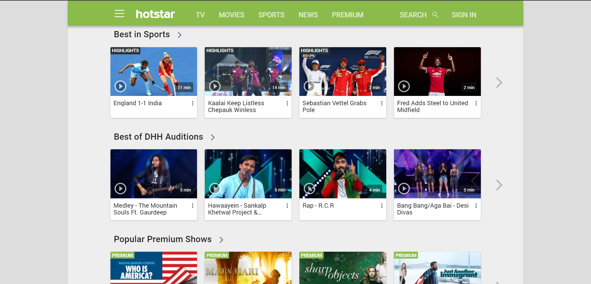 Hotstar Video on demand app in india
