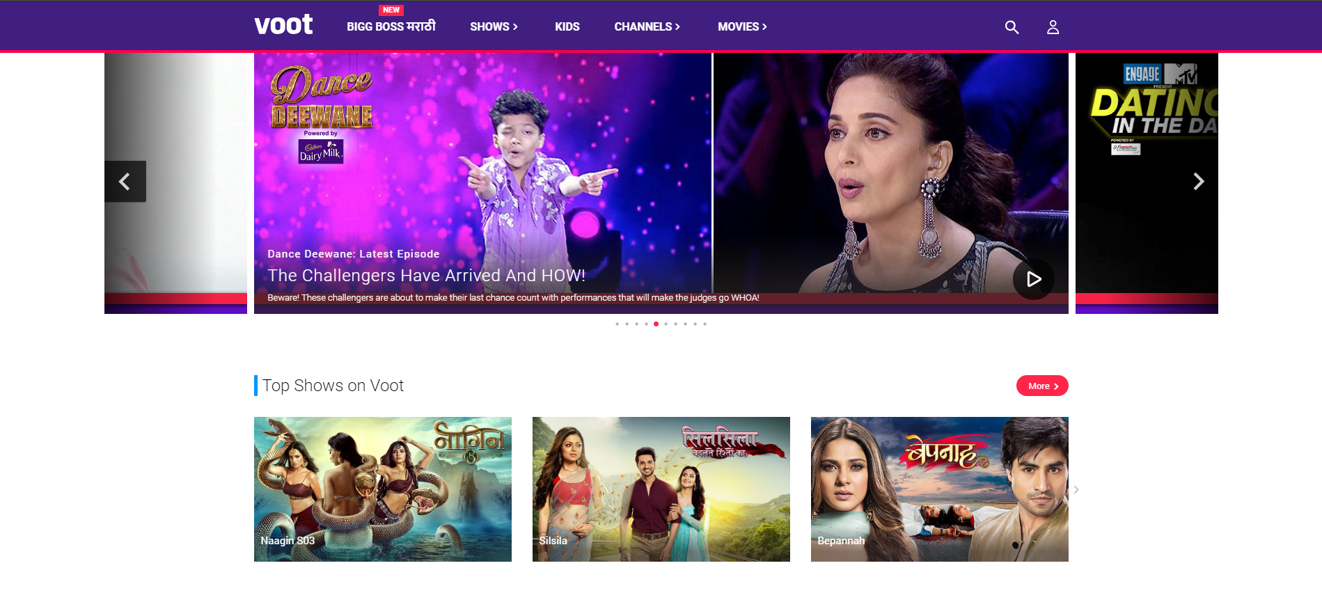 VOOT VOD app by viacom for Indian users
