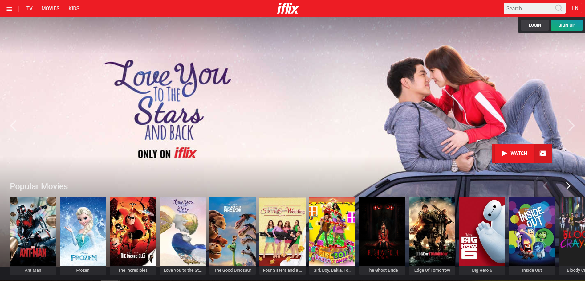 Iflix video streaming app south asia