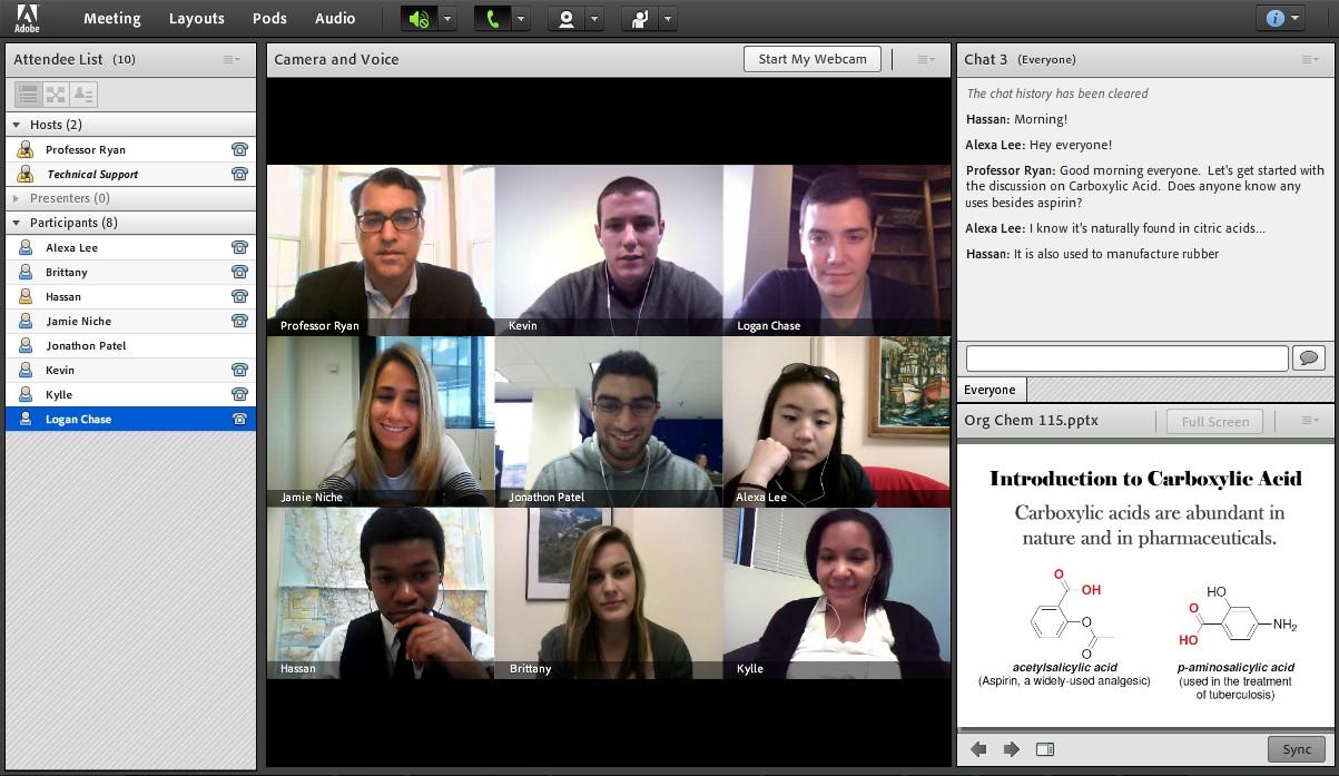 Virtual Classroom Interactive model