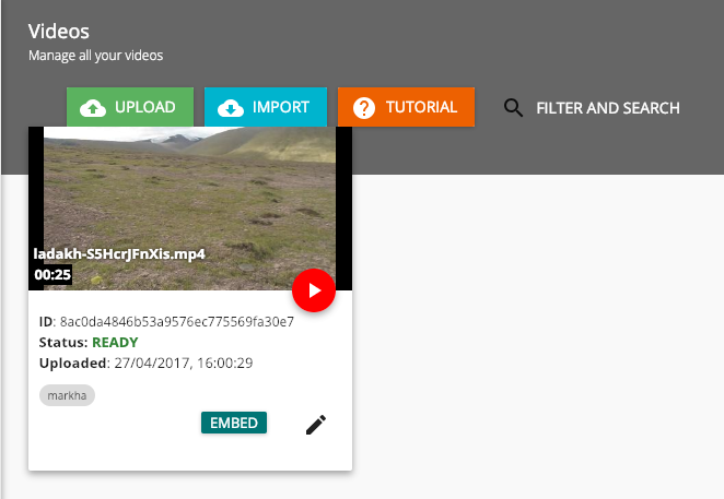 Find video id in the VdoCipher dashboard to add videos to your WordPress website
