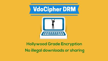 Video hosting platform for online course VdoCipher