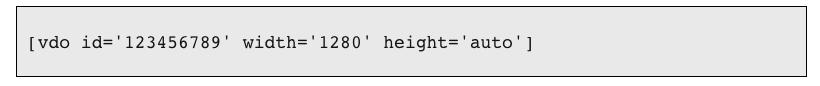 Height shortcode