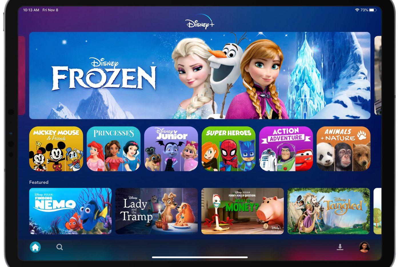 Disney+ OTT platforms