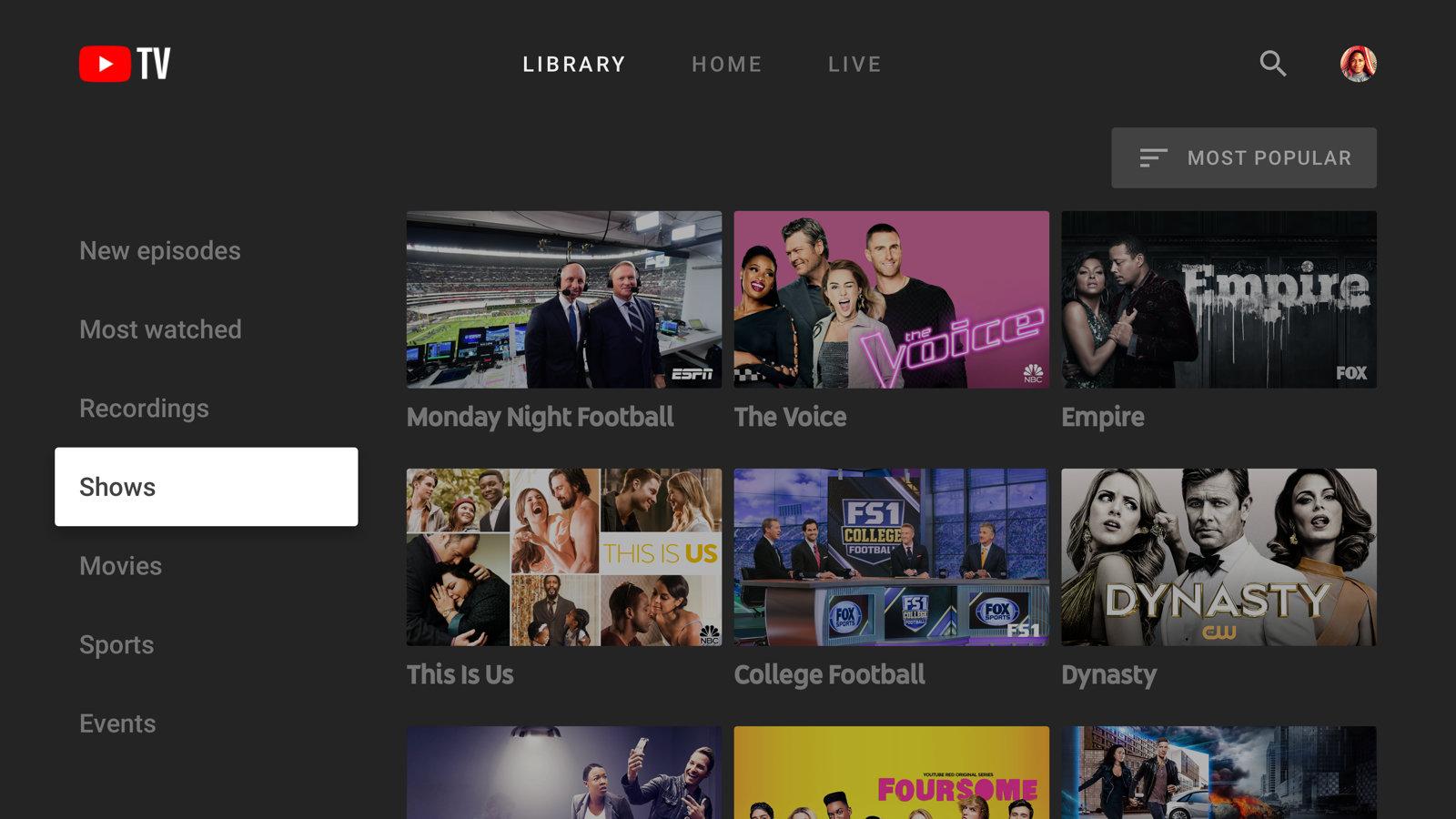 Youtube tv OTT platforms