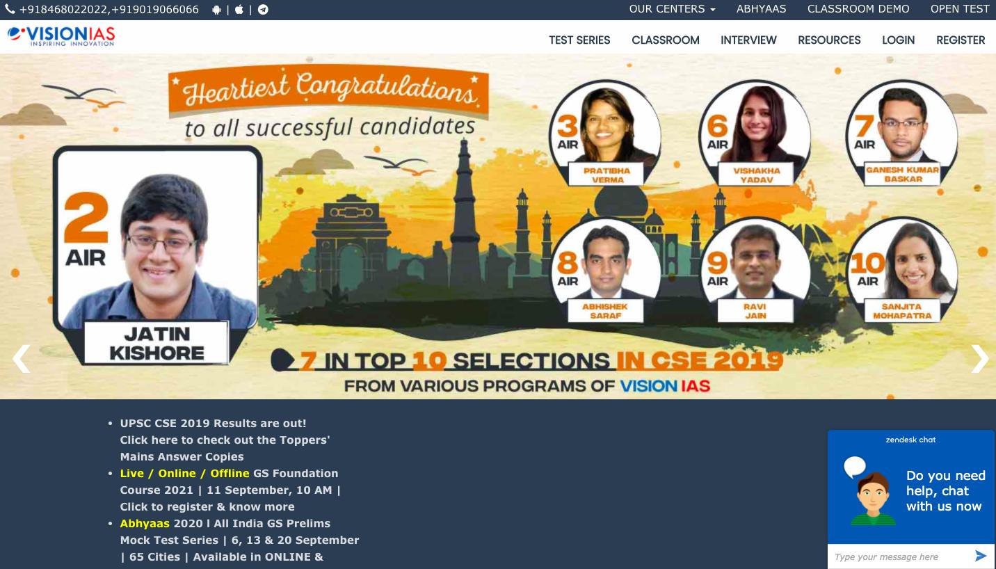 Vision IAS online IAS Coaching