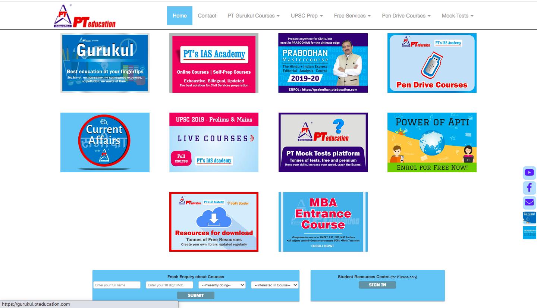 PT Education Online IAS coaching
