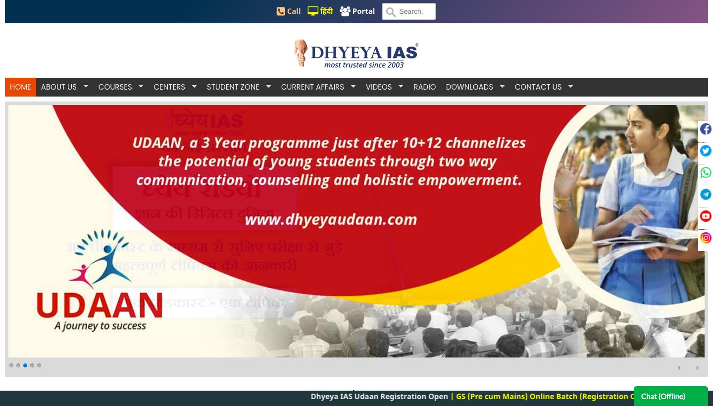 Dhyeya IAS Online IAS coaching