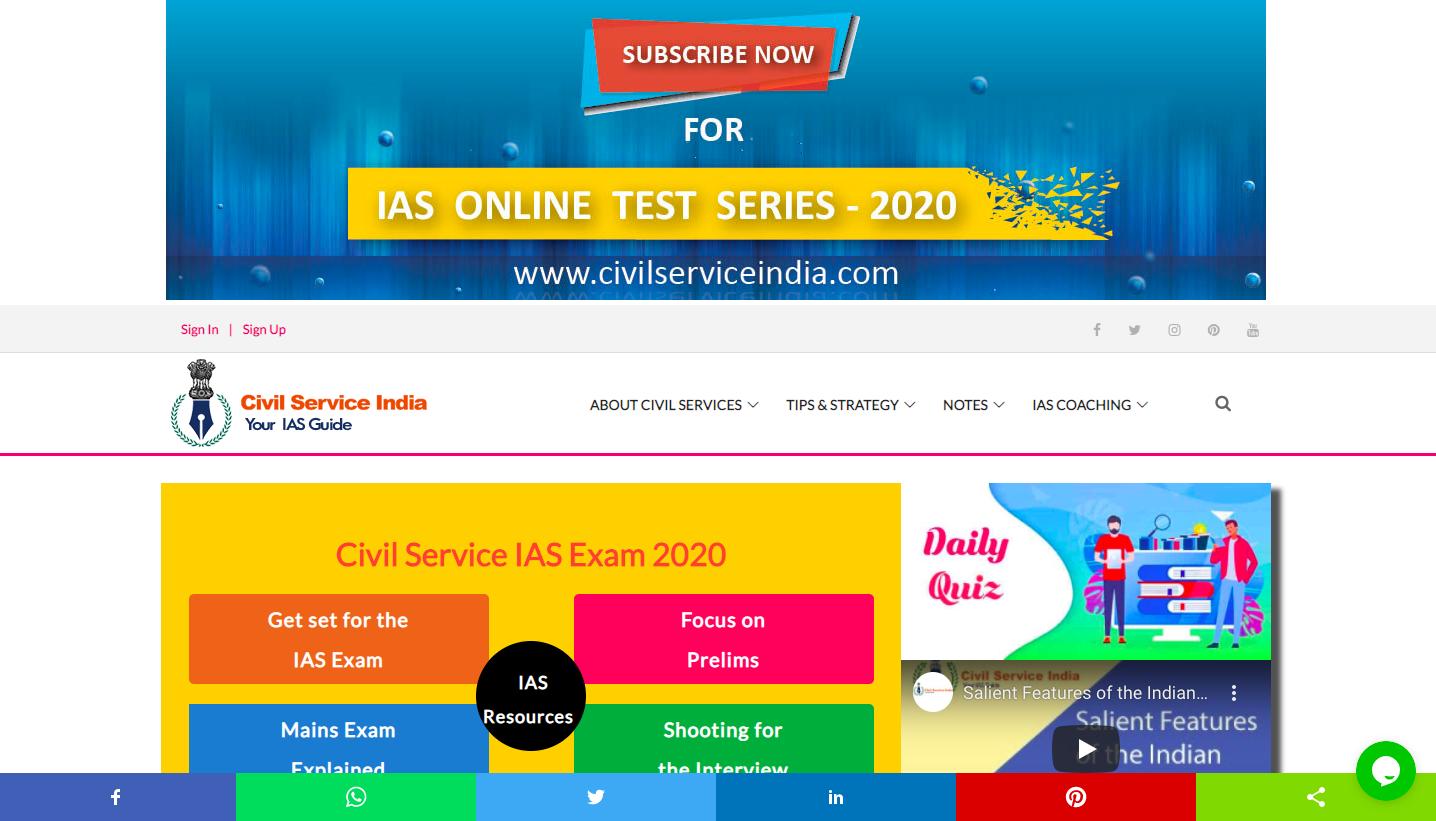 Civil Service India online IAS coaching