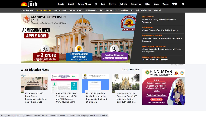 Jagran Josh online IAS coaching