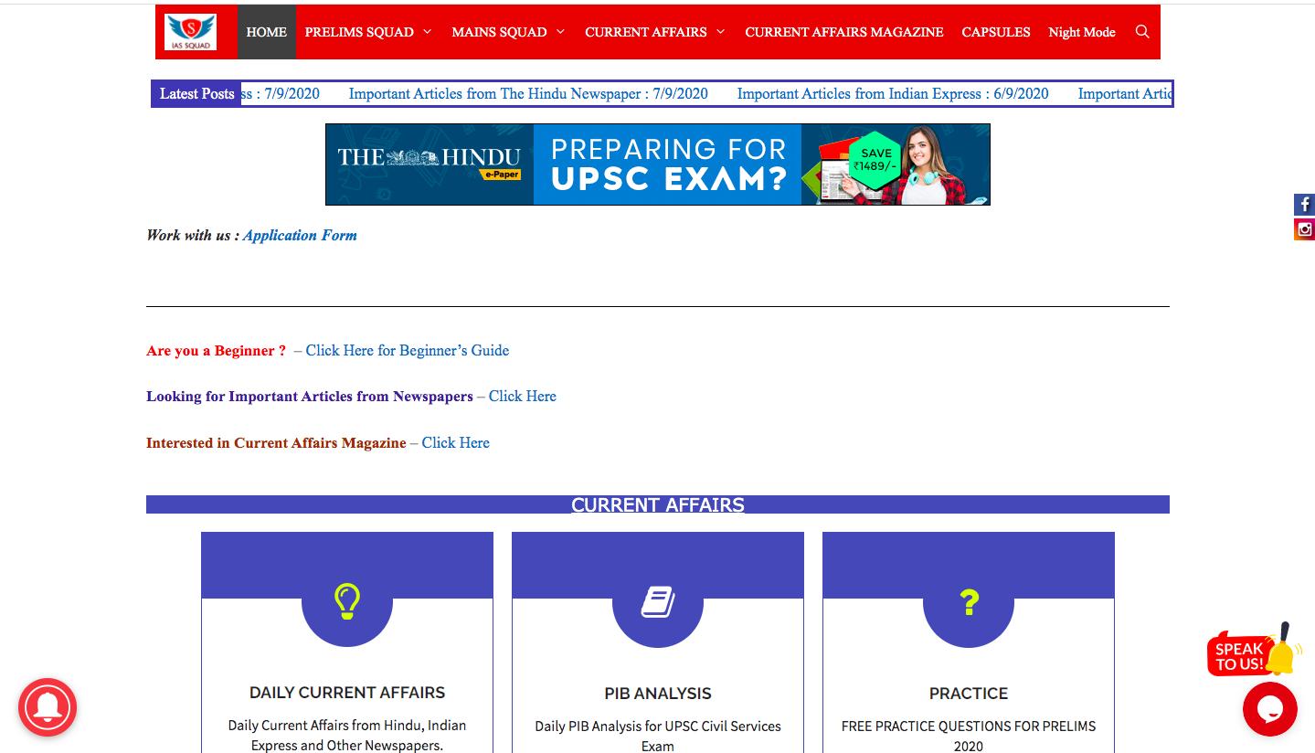 IAS Squad Online IAS Coaching