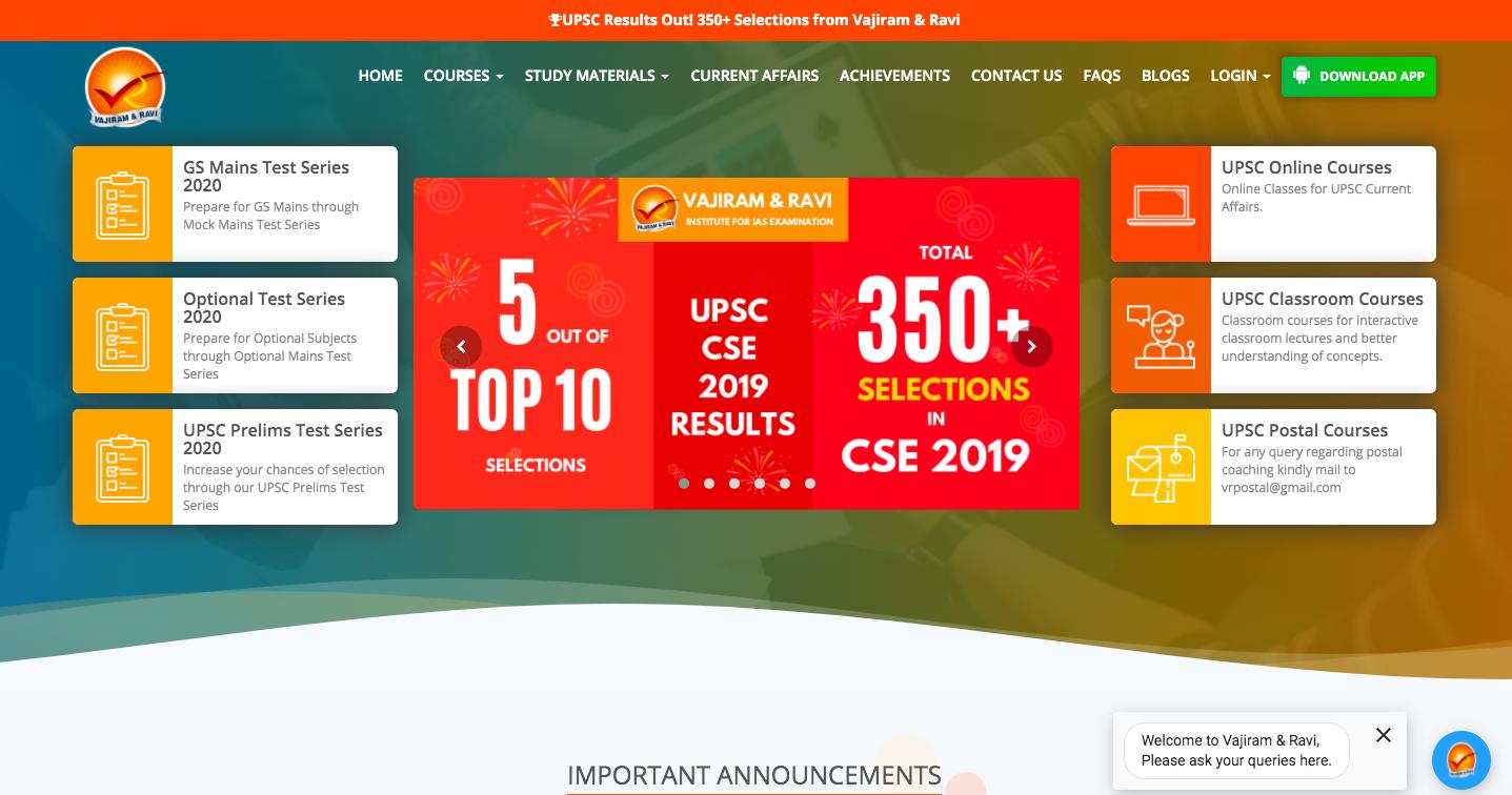Vajiram Ravi online IAS coaching