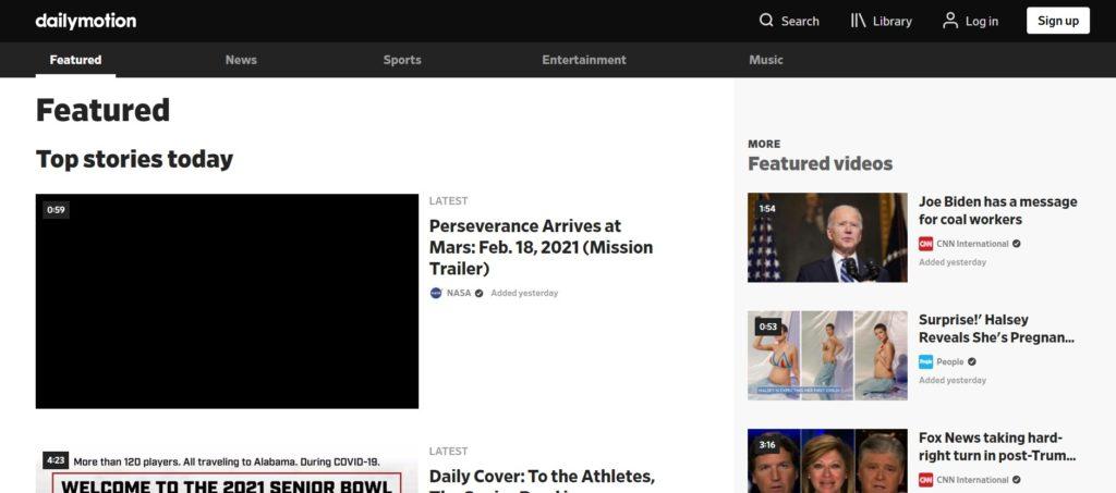 Dailymotion video sharing platform