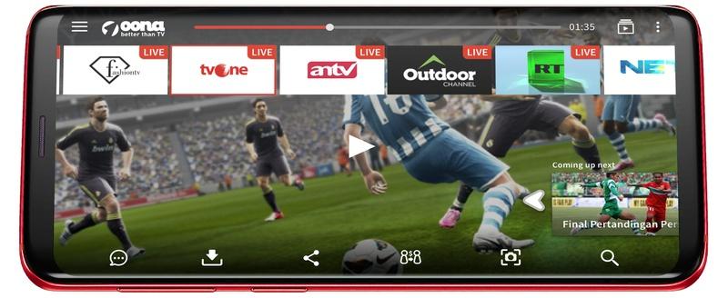 Oona OTT mobile app