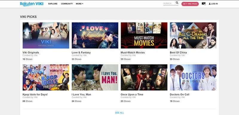 Viki VOD website app and site Asia