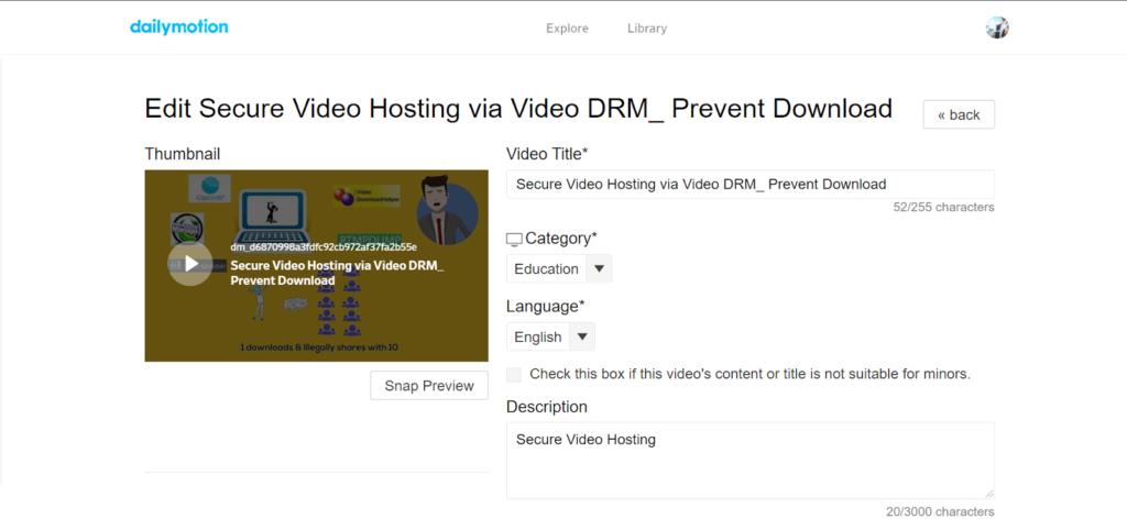 Dailymotion - online video platform comparison