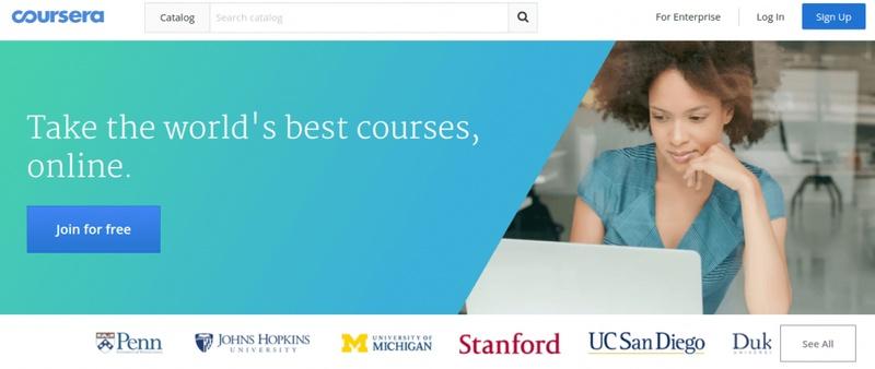 Coursera e-learning video on demand platform