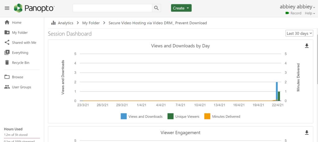 panopto - online video platform comparison analytics