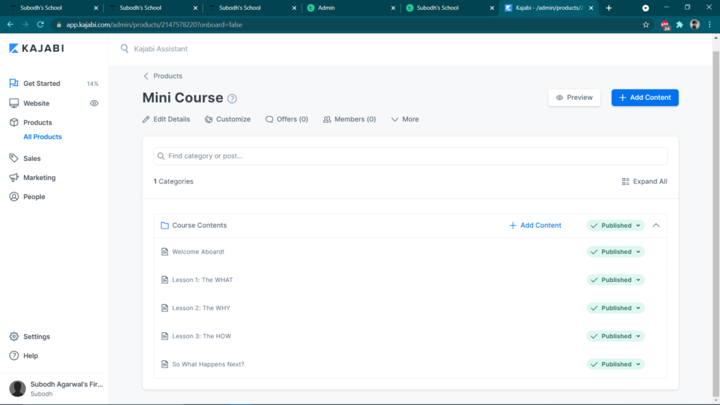 Kajabi Course Design & Interface