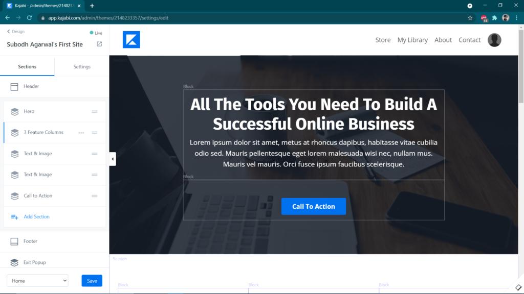 Kajabi Website & Page Builder