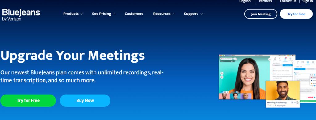 bluejeans- video confrencing platform
