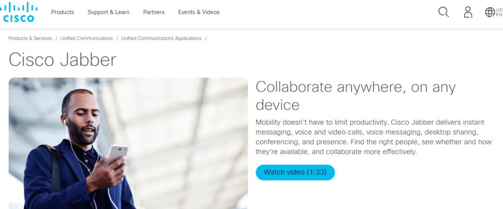 cisco jabber -zoom video confrencing platform